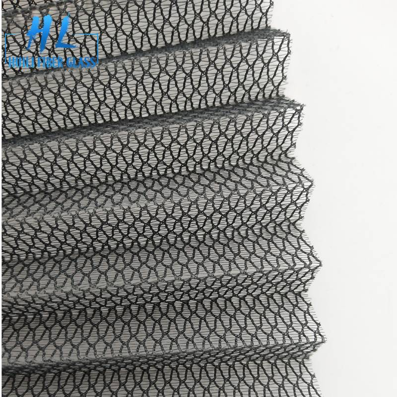 Fiberglass pleated screen mesh 16mm with grey color 100g/m2 used for doors Featured Image