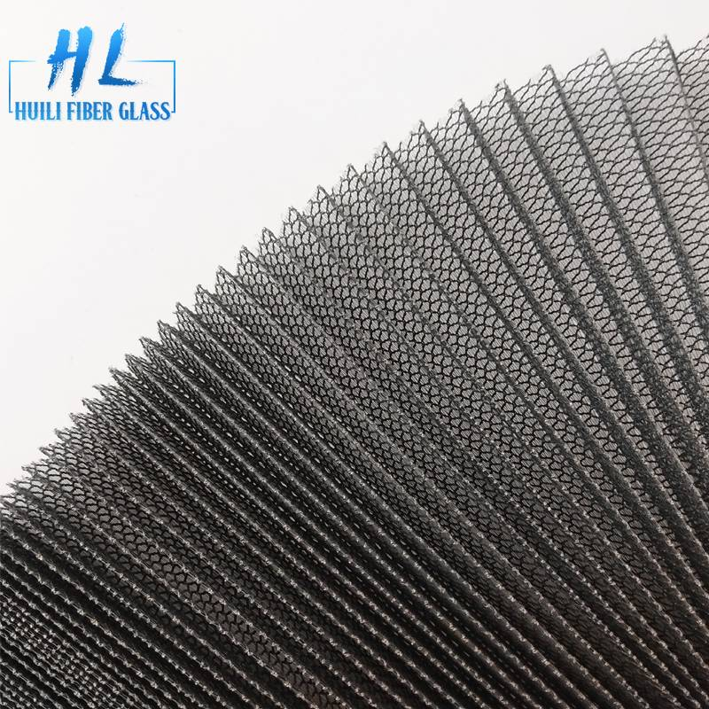 polyester plisse mosquito screen mesh grey color 18mm height Featured Image