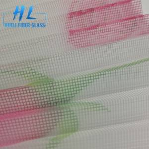 Polyester printed pleated mesh/ plisse mosquito net / insect screen