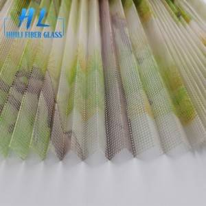 Colorful printing polyester plisse mesh pleated insect screen 18mm