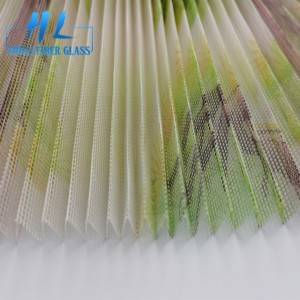 Printed Polyester fly screen folding window net window door screen pleated mesh