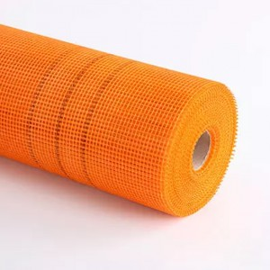 Orange 160g/m2 5x5mm Alkali Resistant Fiberglass Mesh