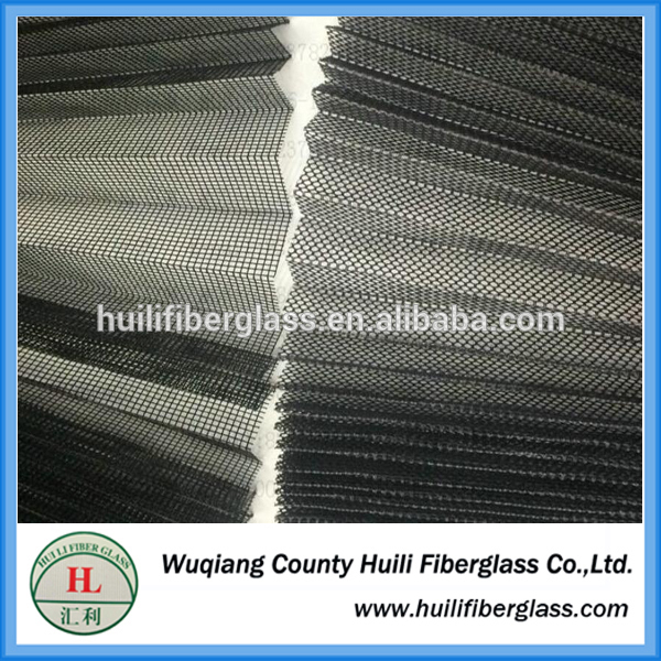 Anti Insect Fiberglass Transparent Folding Window Screen /pleated fiberglass screen
