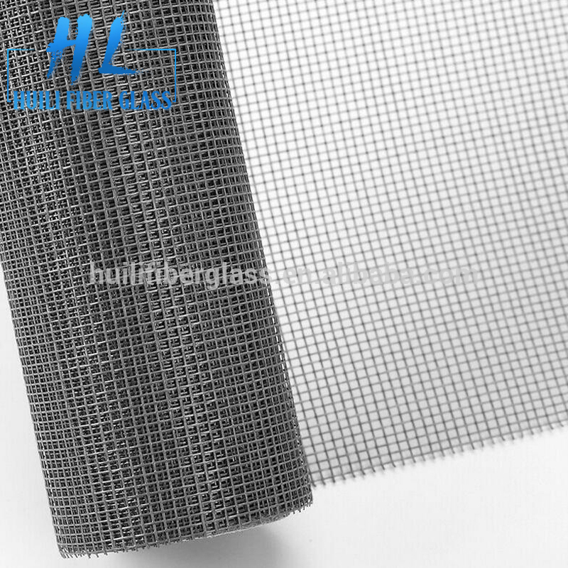 Black color eco-friendly multi-purpose black fiberglass window screen