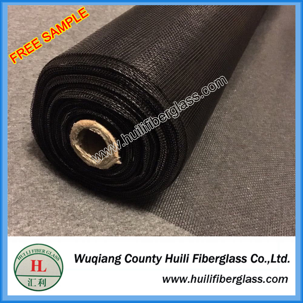 black color pvc coated fly mesh fiberglass mosquito netting