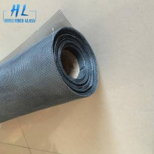 Black 24×24 PVC Coated Fiberglass Window Screen