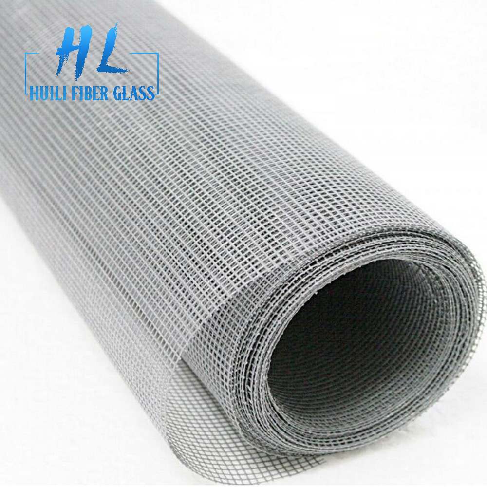 Hot sale Factory Fiberglass Cloth For Waterproofing - black flyscreen pvc coated fiberglass mosquito net for window and door – Huili fiberglass detail pictures