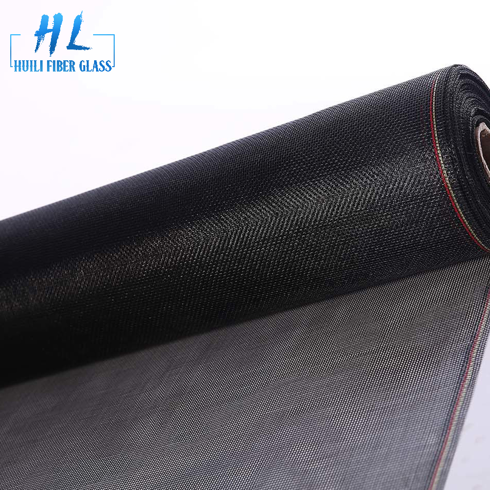 Black pvc coated 18×16 120g Standard Mesh Roll