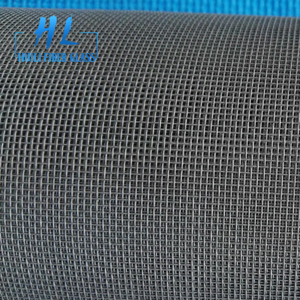 black pvc coated fiberglass insect screen for window and fly screen