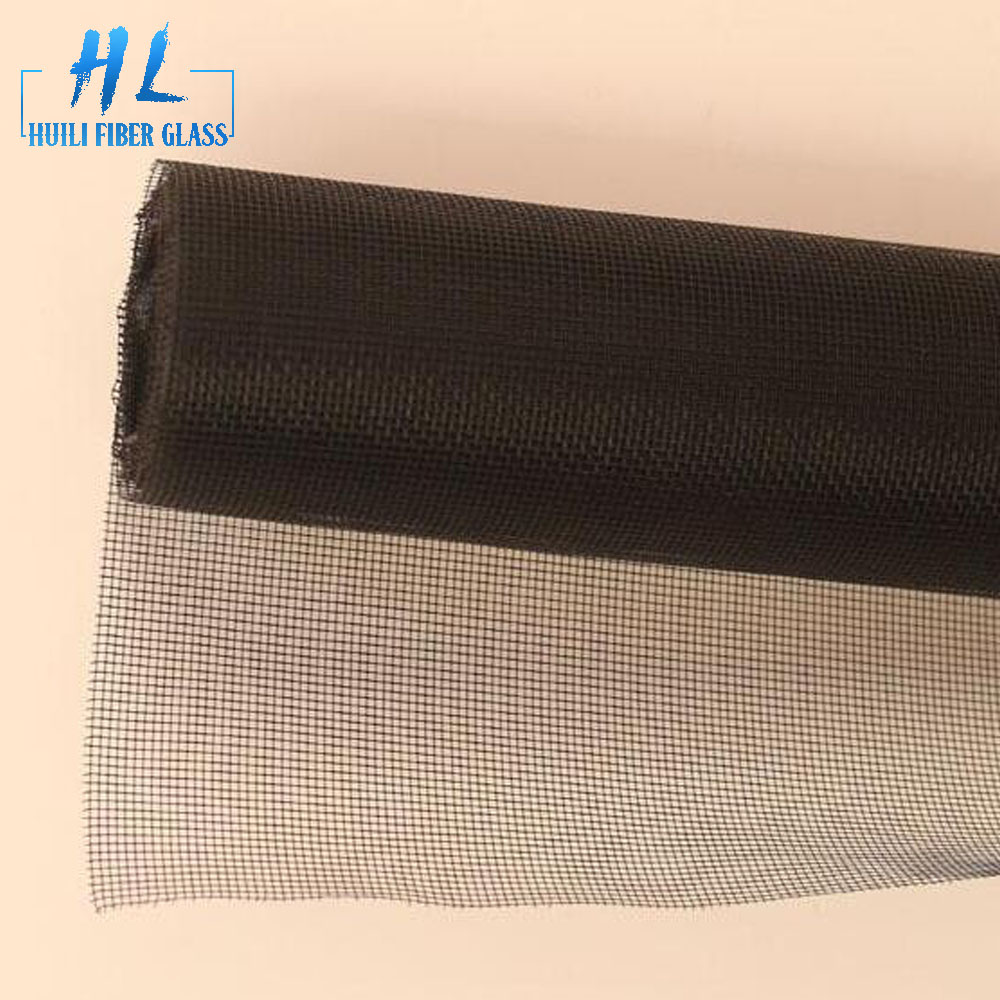 Black PVC coated Fiberglass Screen Mesh For Window Screen Net