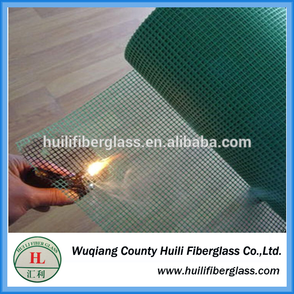 exporter and manufacturer 18*16 PVC Coated green Fiberglass Window Insect Screen