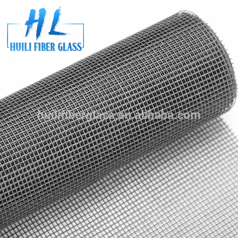 Factory !!!! Cheap!!! 18×16,120g/m2,Silver Grey Colour,PVC coated Fiberglass Insect window Screen