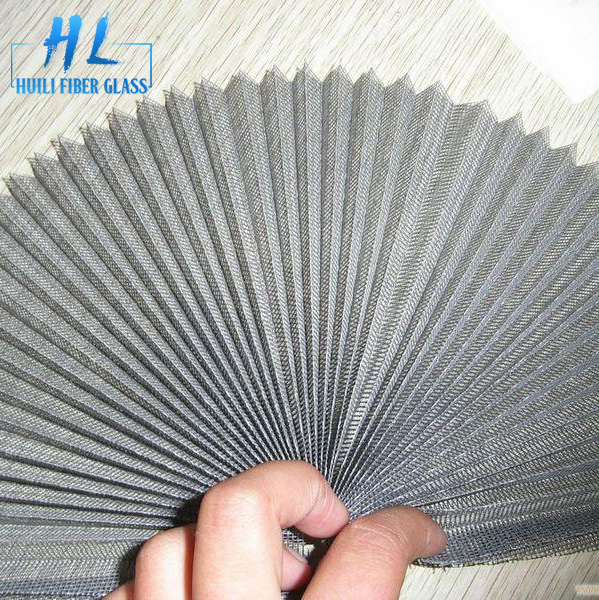 fiberglass and polyester pleated insect screen