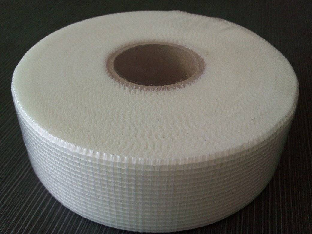 50mm x 45m White Self adhesive Fiberglass Mesh Tape for crack repair Featured Image