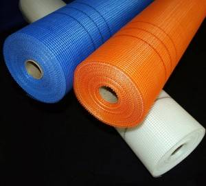 Orange Color 160g 5x5mm Fiberglass Plaster Mesh for Rendering