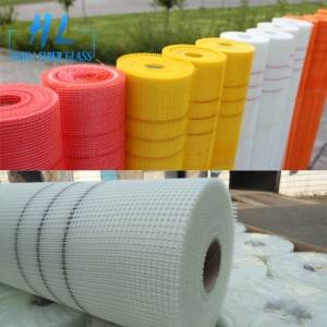 Temperature stability and resistance fiberglass mesh with latex