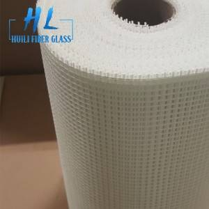 90g 5x5mm wall covering white fiberglass mesh fabric