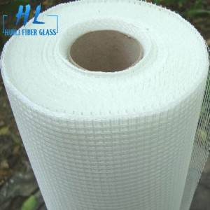 Alkali-resistant fiberglass mesh 4x4mm 80g white color