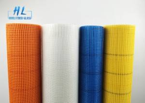 Fiberglass Mesh 5x5mm 110g with different color used for outwall