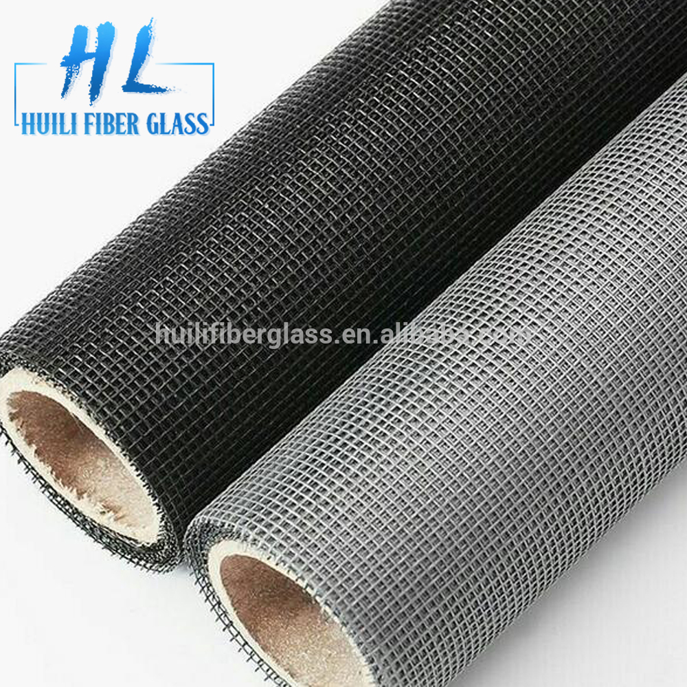 Fiberglass one way vision window screen with black color
