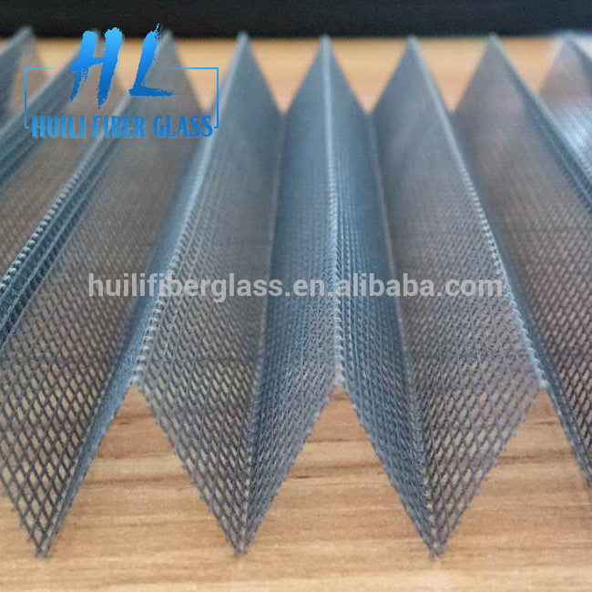 OEM/ODM Manufacturer Polyester Screens Supplier - fiberglass pleated insect screen/plisse window screening/Folding screen – Huili fiberglass
