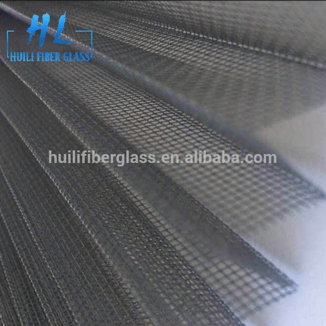 Fiberglass polyester plisse window insect screen pleated mosquito screen mesh