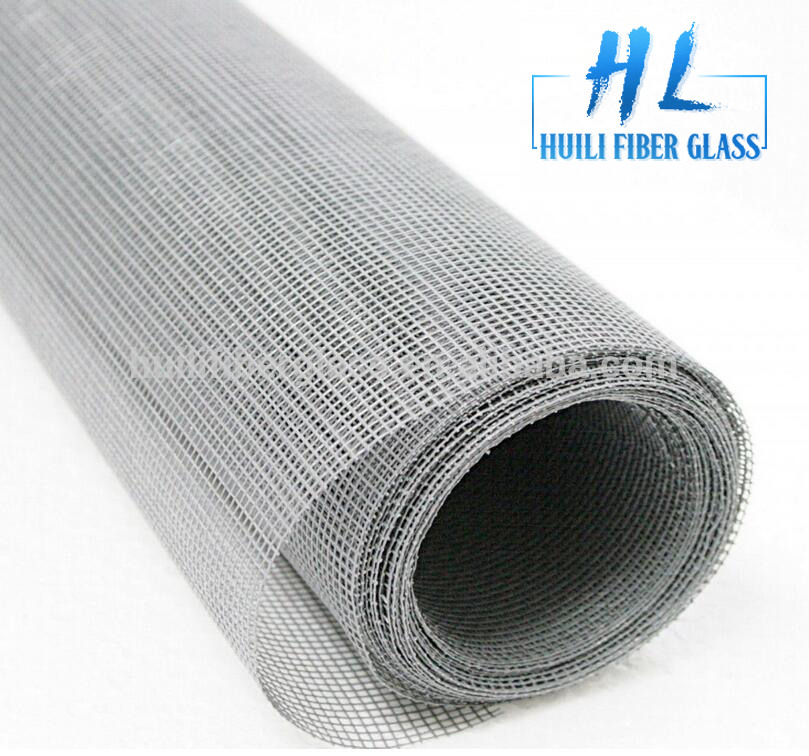 Fiberglass window insect screen with PVC coated