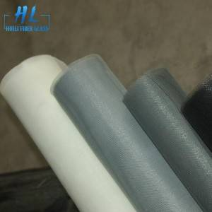 Stiff Anti Mosquito Grey PVC Coated Fiberglass Window Screen
