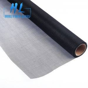 Black 20×20 PVC Coated Fiberglass Insect Screen Mesh