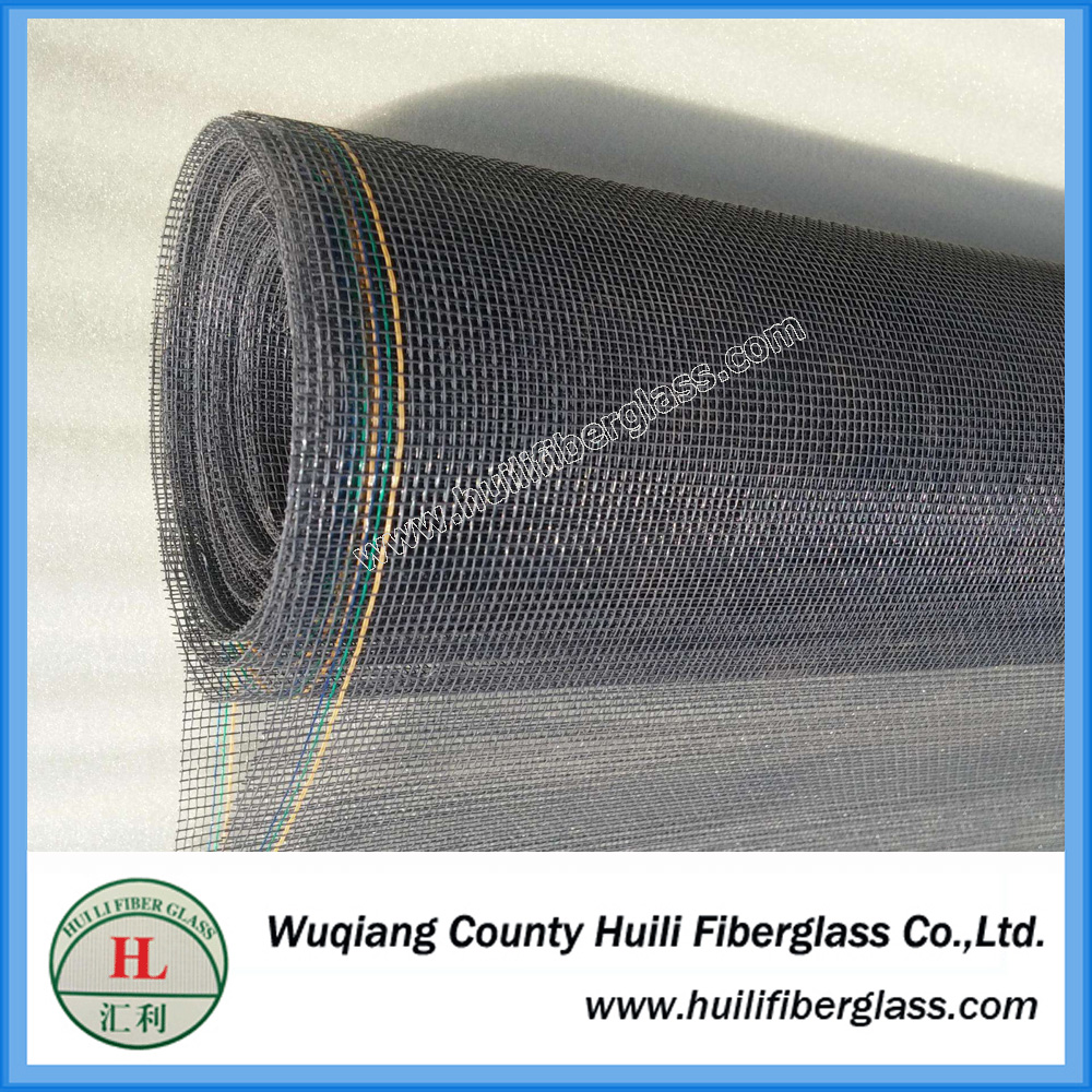 fire proof black plain woven fibergalss wire mesh