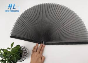Polyester pleated mesh bi folding mosquito fly insect magnetic control detachable screen door