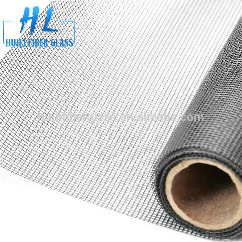 Gray Color Fiberglass insect screen, fiberglass window screen from Huili factory