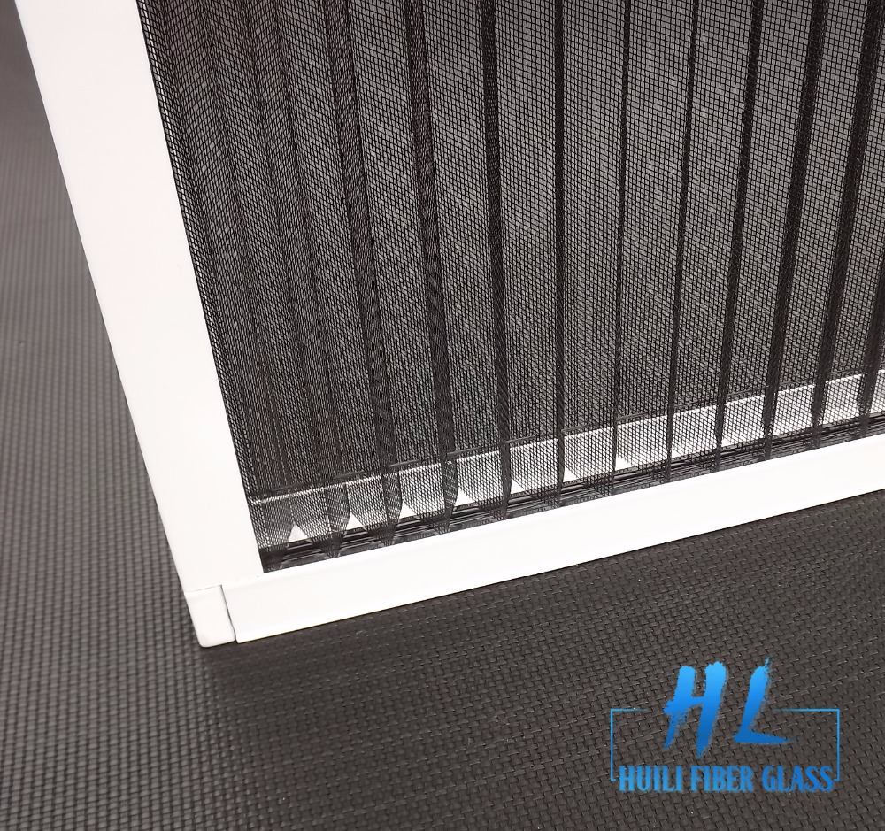 Gray Color Fiberglass Plisse Insect Screen