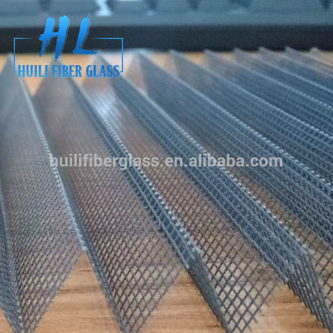Grey color fiberglass Pleated Mosquito Mesh Plisse Mosquito Screen mesh