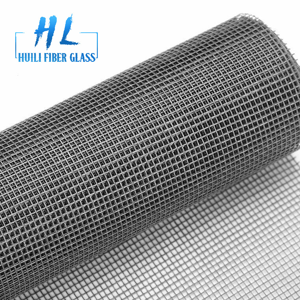 grey color fiberglass window screen netting