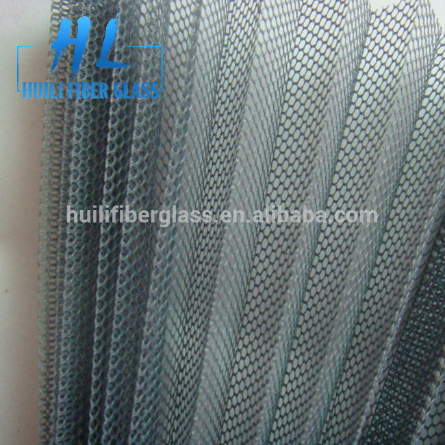 Grey colorr plisse insect screen Black Grey Fiberglass pleated insect screen