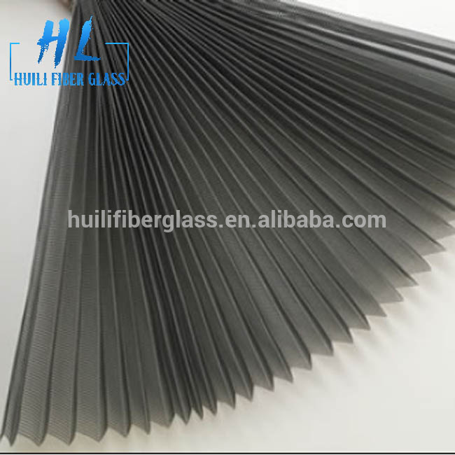 Grey Plisse Insect Screen Pleated window Screen 1.0mx30m