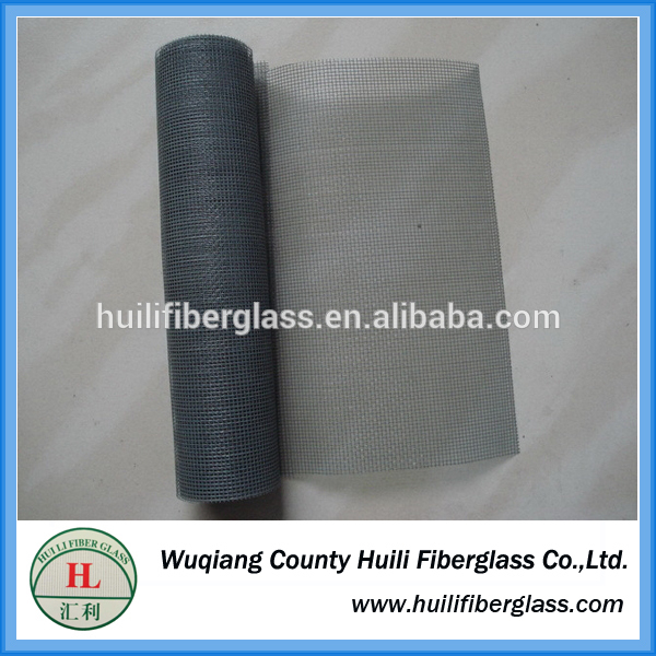 hengshui huili Fire Resistant PVC Plastic Coated Black Grey White Brown Color Fiberglass Window Screen/pet screen/sun shade