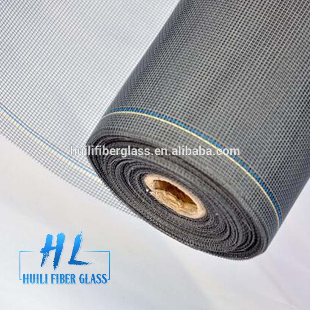 Huili Grey/black color insect screen fiberglass netting/insect screen balcony