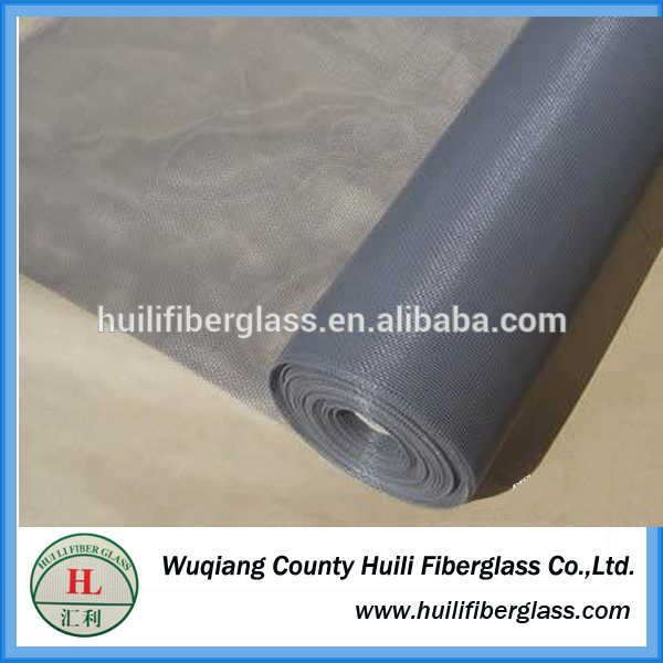 Huili hot sale factory price PVC Coated Alkaline-resistant insect screen/fly screen/colored fiberglass window screens