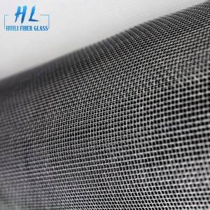 18*16 Grey PVC Coated Fiberglass Window Insect Screen