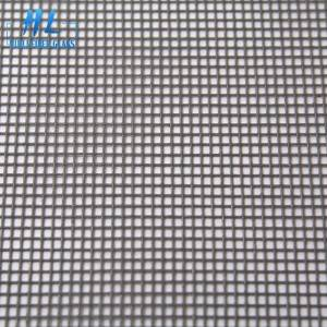 18×16 Grey PVC Coated Fiberglass Window Screen Mesh
