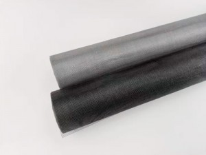 Grey PVC Coated Fiberglass Window Fly Screen Mesh Roll