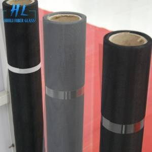 Black Insectproof Grey PVC Coated Fiberglass Window Screen