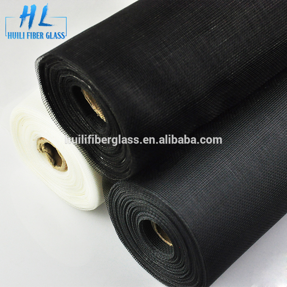 one way vision window screen 16*18 mesh 30m roll black fiberglass screening