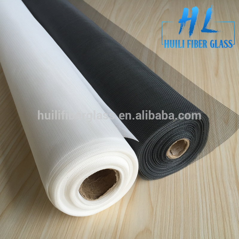 Plain weaving PVC coated fiberglass insect screen/window screen in window and doors