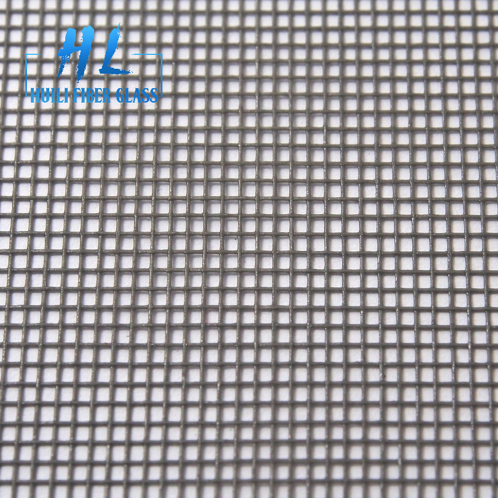 plain woven pvc coated fiberglass mosquito insect screen for window