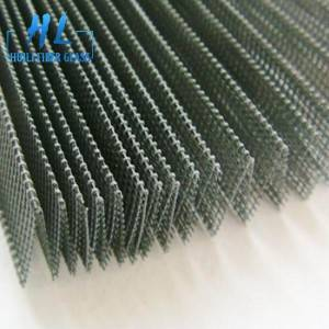 High strength polyester pleated screen mesh grey color