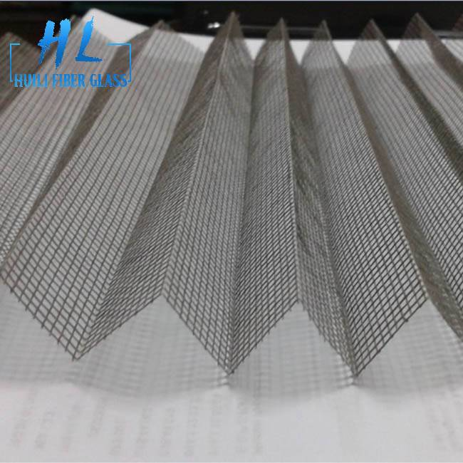 Mosquito Waterproof Plisse Insect Screen/Polyester Pleated mesh/Retractable/Folding Net Featured Image