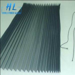 PP material pleated mesh screen 15mm folding height